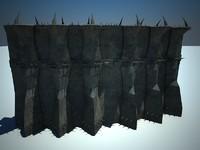 evil fantasy walls 3d max