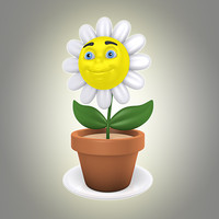 3ds max cartoon flower