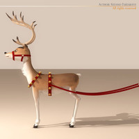 Santa Reindeer Cartoon