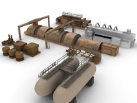 3d generators industrial model