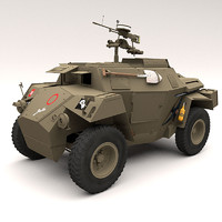 3d model humber scout car
