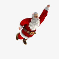 3ds max rigged santa