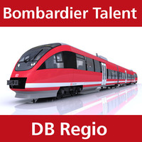 3d model talent passenger train deutsche