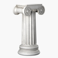 3d model of pedestal ionic
