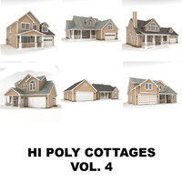 Hi-poly cottages collection vol.4