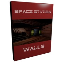 set walls space station 3d model