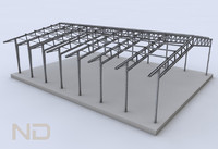 building steel 3d 3ds