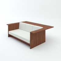 architect john pawson sofa-desk 3d 3ds