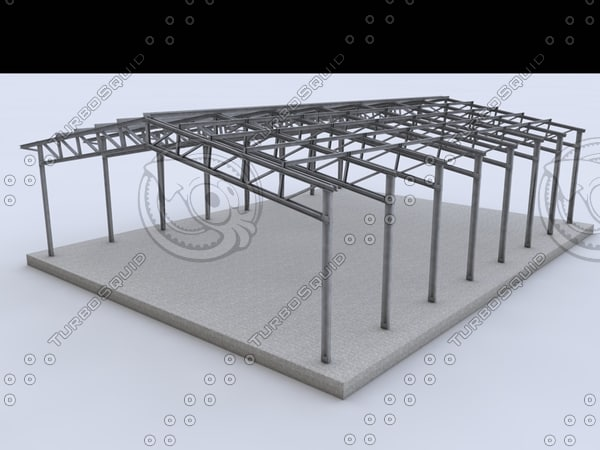 building steel 3d 3ds - STEEL BUILDINGS... by N.DESIGN