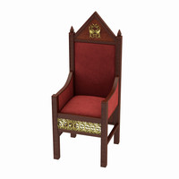 3ds max throne chair