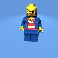 lego pirate 3d c4d