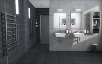 3d model wet-room interior