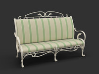 3d model of forged bench