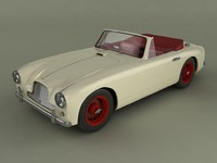 3d model of aston martin db2 4