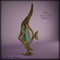 decor fish 3d max