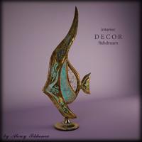 decor fish 3d max