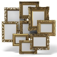 Grand Carved Picture Frame Set