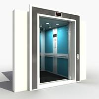 lift interior 3d model