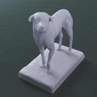 lost dog sculpture print 3d max