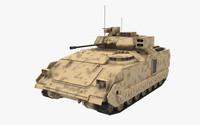 m3a3 bradley apc 3d model