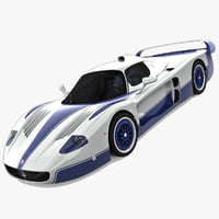3d model maserati mc12 rigged