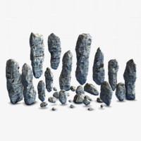 rock pack landscape 3d model