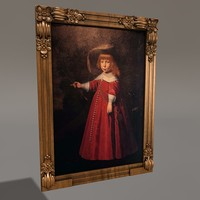 3d old painting