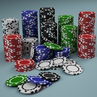 poker chip 3d 3ds