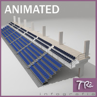 retractable bleachers 3d model