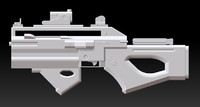 blender sub machine gun rifle