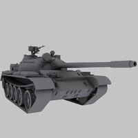 t-55 tank soviet 3ds