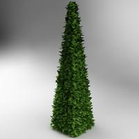 bush pyramidal 3d model