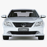 3d toyota camry 2012 global model