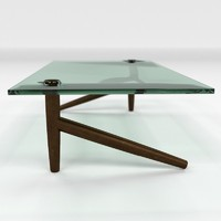 legged coffee table 3d model