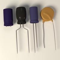 capacitors 3d model