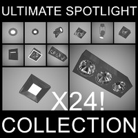 3d ultimate spotlight lights model