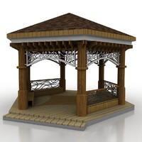 3d model gazebo garden materials