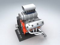 hemi 426 engine 3d model