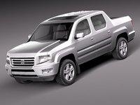 3dsmax honda ridgeline 2012 pickup
