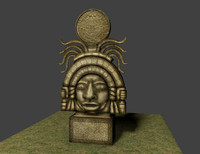 Maya civilization. Ancient sculpture