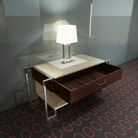 Nightstand With Lamp