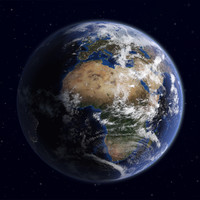 3d planet earth super model
