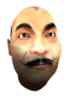 face poirot 3d model