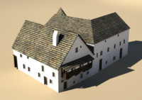 medieval house block 3d model