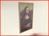 3d model mona lisa painting