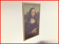 3d model mona lisa painting
