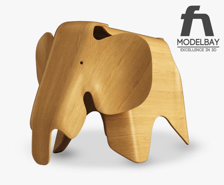 obj eames plywood elephant. Black Bedroom Furniture Sets. Home Design Ideas
