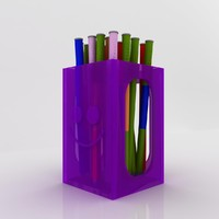 3d model of pencil box