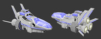 spaceship space ship 3d obj