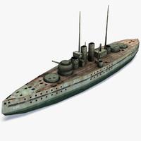 3d model of sms viribus unitis battleship